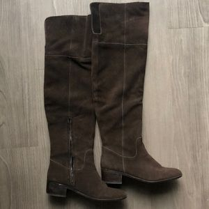 Over-the-knee Suede Boots